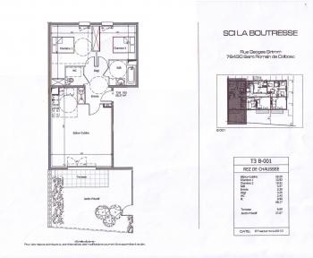 Location Appartement 3 pièces Saint-Romain-de-Colbosc (76430) - La Boutresse